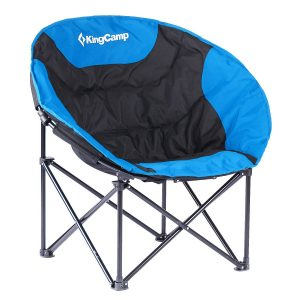 KingCamp Moon Leisure Lightweight Portable Stable Folding Chair, for Camping, Hiking, Carry Bag Included