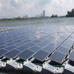 Floating Solar Panels In Open Resevoir